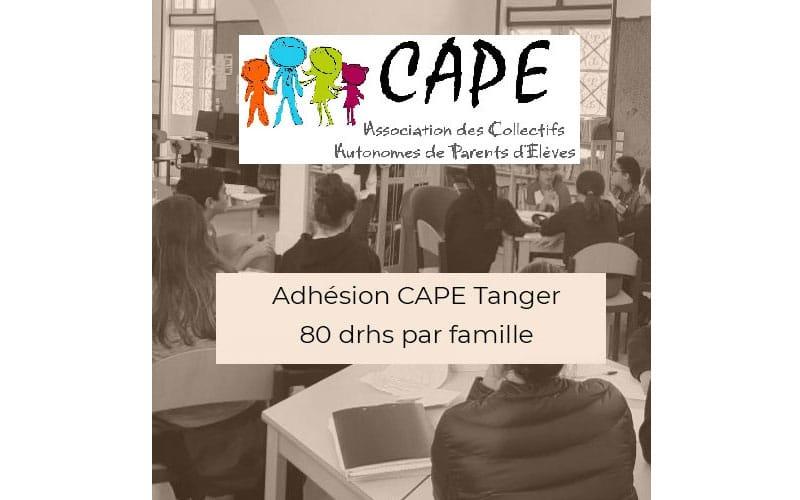 Adhérer à CAPE Tanger : c'est très simple, utile, et c'est ici !