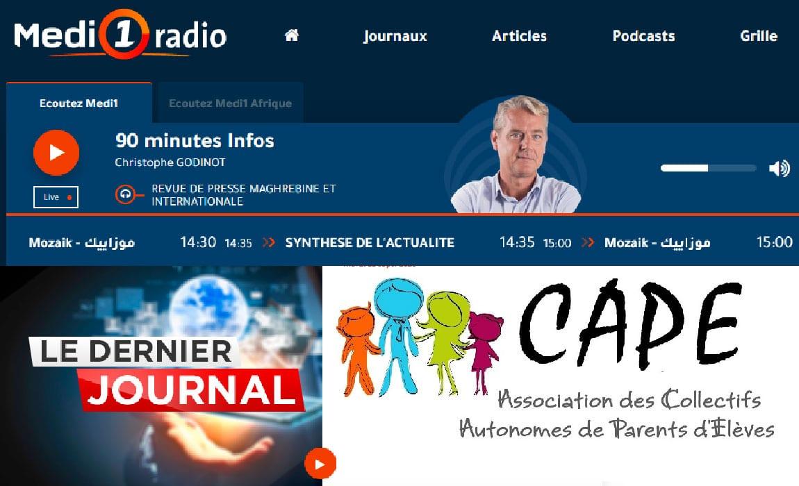 Retour à la maison pour les élèves du lycée Regnault, CAPE Tanger au journal de Medi1 Radio