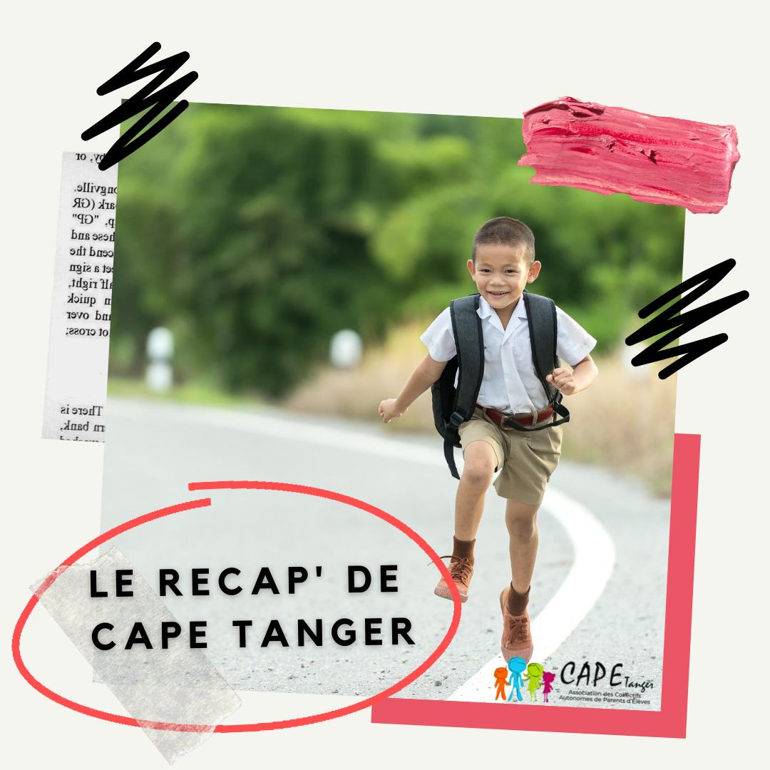 Rentrée 2021 : le récap' de CAPE Tanger