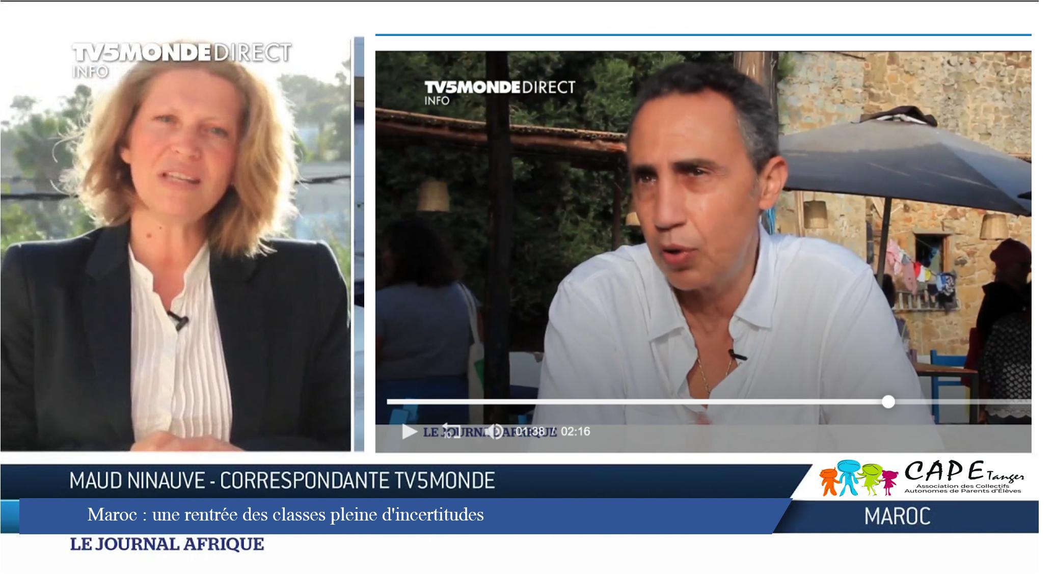 TV5Monde relaie notre incertitude concernant la rentrée scolaire